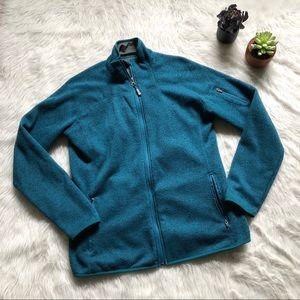 Eddie Bauer Blue Knit Zip Up Jacket
